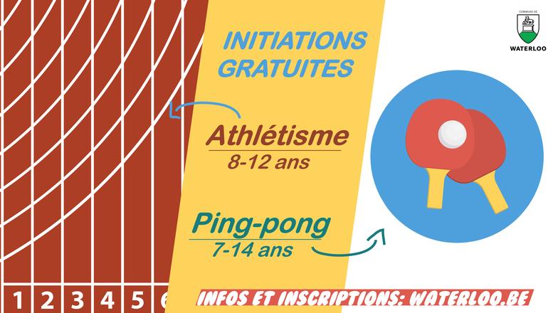 À la découverte de l'athlétisme et du tennis de table
