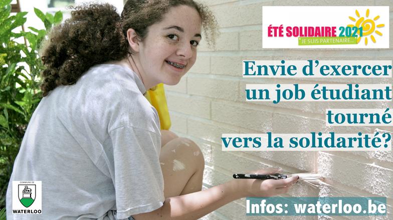 """""""Été Solidaire 2021"""":  un job étudiant qui a du sens"""