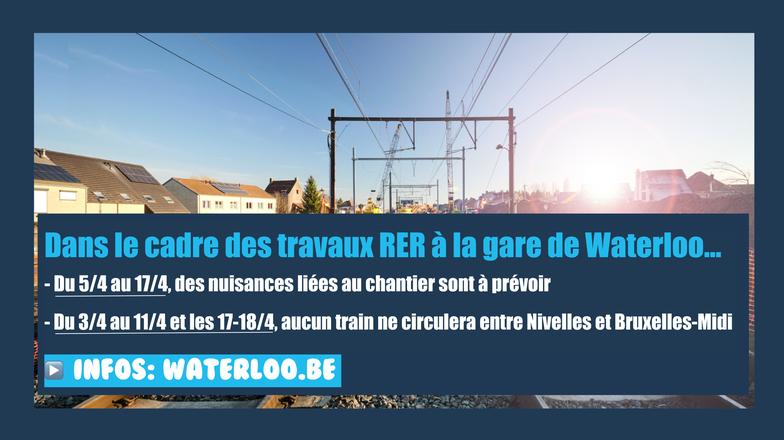 RER: travaux en gare de Waterloo et interruption temporaire du trafic ferroviaire