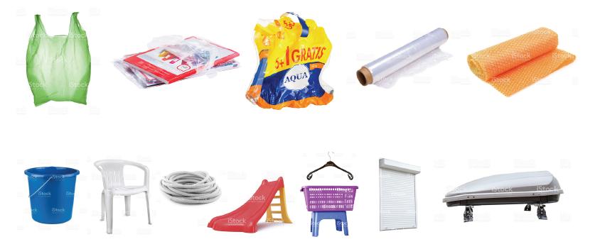 les plastiques au parc à conteneurs